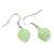 Mint/ Olive/ Light Blue Glass & Enamel Bead Multi Strand Wire Necklace & Drop Earrings Set In Silver Tone - 44cm L/ 3cm Ext - view 8