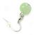 Mint/ Olive/ Light Blue Glass & Enamel Bead Multi Strand Wire Necklace & Drop Earrings Set In Silver Tone - 44cm L/ 3cm Ext - view 5