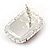 Red/ Clear Crystal Square Pendant with Silver Tone Chain and Stud Earrings Set - 44cm L/ 5cm Ext - view 4