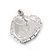 Blue/ Clear Crystal Heart Pendant with Silver Tone Chain and Stud Earrings Set - 44cm L/ 6cm Ext - view 4