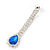 Bridal/ Wedding/ Prom Sapphire Blue/ Clear Austrian Crystal Necklace And Drop Earrings Set In Silver Tone - 36cm L/ 11cm Ext - view 5
