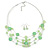 Light Green Shell & Crystal Floating Bead Necklace & Drop Earring Set - 52cm L/ 5cm Ext - view 6