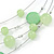 Light Green Shell & Crystal Floating Bead Necklace & Drop Earring Set - 52cm L/ 5cm Ext - view 7