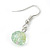 Light Green Shell & Crystal Floating Bead Necklace & Drop Earring Set - 52cm L/ 5cm Ext - view 5