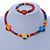 Children's Multicoloured Strawberry Wooden Flex Necklace & Flex Bracelet Set - view 2