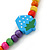 Children's Multicoloured Strawberry Wooden Flex Necklace & Flex Bracelet Set - view 5