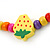 Children's Multicoloured Strawberry Wooden Flex Necklace & Flex Bracelet Set - view 6