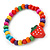 Children's Multicoloured Strawberry Wooden Flex Necklace & Flex Bracelet Set - view 4