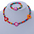 Children's Multicoloured Heart Wooden Flex Necklace & Flex Bracelet Set - view 2