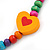 Children's Multicoloured Heart Wooden Flex Necklace & Flex Bracelet Set - view 4