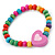 Children's Multicoloured Heart Wooden Flex Necklace & Flex Bracelet Set - view 5
