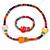 Children's Multicoloured Kitty Wooden Flex Necklace & Flex Bracelet Set
