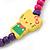 Children's Multicoloured Kitty Wooden Flex Necklace & Flex Bracelet Set - view 5