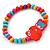 Children's Multicoloured Kitty Wooden Flex Necklace & Flex Bracelet Set - view 3