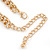 Gold Plated Cream Faux Pearl Bib Necklace and Drop Earrings Set - 40cm L/ 8cm Ext - view 4