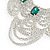 Bridal, Wedding, Prom Clear/ Emerald Green Austrian Crystal Layered Necklace and Stud Earrings Set In Silver Tone - 36cm L/ 6cm Ext - view 8