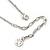 Delicate Pastel Pink/ Grey Matt Enamel Leaf Necklace & Stud Earrings In Silver Tone Metal - 40cm L/ 8cm Ext - Gift Boxed - view 8