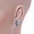 Delicate Pastel Pink/ Grey Matt Enamel Leaf Necklace & Stud Earrings In Silver Tone Metal - 40cm L/ 8cm Ext - Gift Boxed - view 4