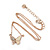 Clear Austrian Crystal Cream Enamel Butterfly Pendant with Rose Gold Tone Chain and Stud Earrings Set - 41cm L/ 4cm Ext - Gift Boxed - view 5