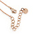 Clear Austrian Crystal Cream Enamel Butterfly Pendant with Rose Gold Tone Chain and Stud Earrings Set - 41cm L/ 4cm Ext - Gift Boxed - view 9