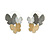 3 Tone Romantic Matt Enamel Butterfly Necklace & Stud Earrings In Rhodium Plated Metal - 40cm L/ 7cm Ext - Gift Boxed - view 10