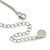 3 Tone Romantic Matt Enamel Butterfly Necklace & Stud Earrings In Rhodium Plated Metal - 40cm L/ 7cm Ext - Gift Boxed - view 8