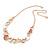 Romantic Matt Beige/ Orange Heart Necklace &  Drop Earrings In Rose Gold Metal - 39cm L/ 7cm Ext - Gift Boxed - view 9