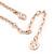Romantic Matt Beige/ Orange Heart Necklace &  Drop Earrings In Rose Gold Metal - 39cm L/ 7cm Ext - Gift Boxed - view 5