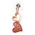 Romantic Matt Beige/ Orange Heart Necklace &  Drop Earrings In Rose Gold Metal - 39cm L/ 7cm Ext - Gift Boxed - view 10