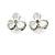 Romantic White Matt Enamel 3D Floral Necklace & Stud Earrings In Rhodium Plating - 40cm L/ 8cm Ext - Gift Boxed - view 5