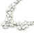 Romantic White Matt Enamel 3D Floral Necklace & Stud Earrings In Rhodium Plating - 40cm L/ 8cm Ext - Gift Boxed - view 6