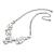 Romantic White Matt Enamel 3D Floral Necklace & Stud Earrings In Rhodium Plating - 40cm L/ 8cm Ext - Gift Boxed - view 8