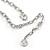 Romantic White Matt Enamel 3D Floral Necklace & Stud Earrings In Rhodium Plating - 40cm L/ 8cm Ext - Gift Boxed - view 9