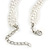 3 Strand Faux Pearl and Clear Glass Bead Twisted Necklace & Bracelet Set In Silver Tone - 40cm L/ 5cm Ext - view 5