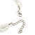 3 Strand Faux Pearl and Clear Glass Bead Twisted Necklace & Bracelet Set In Silver Tone - 40cm L/ 5cm Ext - view 7