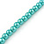 5mm, 7mm Aqua/ Cyan Glass/ Crystal Bead Necklace, Flex Bracelet & Drop Earrings Set In Silver Plating - 42cm L/ 5cm Ext - view 8