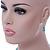 5mm, 7mm Aqua/ Cyan Glass/ Crystal Bead Necklace, Flex Bracelet & Drop Earrings Set In Silver Plating - 42cm L/ 5cm Ext - view 7
