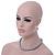 12mm Grey Glass Bead Necklace, Flex Bracelet & Drop Earrings Set In Silver Plating - 46cm L/ 5cm Ext - view 3