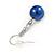 10mm Navy Blue Glass Bead Necklace, Flex Bracelet & Drop Earrings Set In Silver Plating - 42cm L/ 5cm Ext - view 10