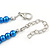 5mm, 7mm Electric Blue Glass/Crystal Bead Necklace, Flex Bracelet & Drop Earrings Set In Silver Plating - 42cm L/ 5cm Ext - view 7