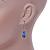 5mm, 7mm Electric Blue Glass/Crystal Bead Necklace, Flex Bracelet & Drop Earrings Set In Silver Plating - 42cm L/ 5cm Ext - view 6