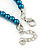 5mm, 7mm Teal Glass/Crystal Bead Necklace, Flex Bracelet & Drop Earrings Set In Silver Plating - 42cm L/ 5cm Ext - view 6
