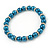 5mm, 7mm Teal Glass/Crystal Bead Necklace, Flex Bracelet & Drop Earrings Set In Silver Plating - 42cm L/ 5cm Ext - view 9