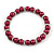 6mm, 8mm Cranberry Red Glass/ Crystal Bead Necklace, Flex Bracelet & Drop Earrings Set In Silver Plating - 42cm L/ 5cm Ext - view 10