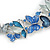 Romantic Blue Glass, Enamel, Crystal Butterfly Cluster Necklace and Stud Earrings Set In Rhodium Plating - 42cm L/ 7cm Ext - view 11