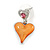 Romantic Multicoloured Glass, Crystal Multi Heart Necklace and Drop Earrings Set In Rhodium Plating - 40cm L/ 8cm Ext - view 5