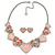 Romantic Crystal Multi Heart Necklace and Stud Earrings Set In Rhodium Plating (Pink) - 40cm L/ 8cm Ext - Gift Boxed - view 5