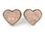 Romantic Crystal Multi Heart Necklace and Stud Earrings Set In Rhodium Plating (Pink) - 40cm L/ 8cm Ext - Gift Boxed - view 9