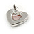 Romantic Crystal Multi Heart Necklace and Stud Earrings Set In Rhodium Plating (Pink) - 40cm L/ 8cm Ext - Gift Boxed - view 8