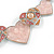 Romantic Crystal Multi Heart Necklace and Stud Earrings Set In Rhodium Plating (Pink) - 40cm L/ 8cm Ext - Gift Boxed - view 11